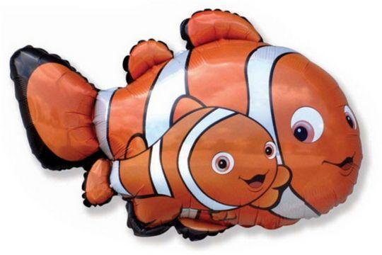 Рыбки клоуны фигурный шар фольгированный с гелием