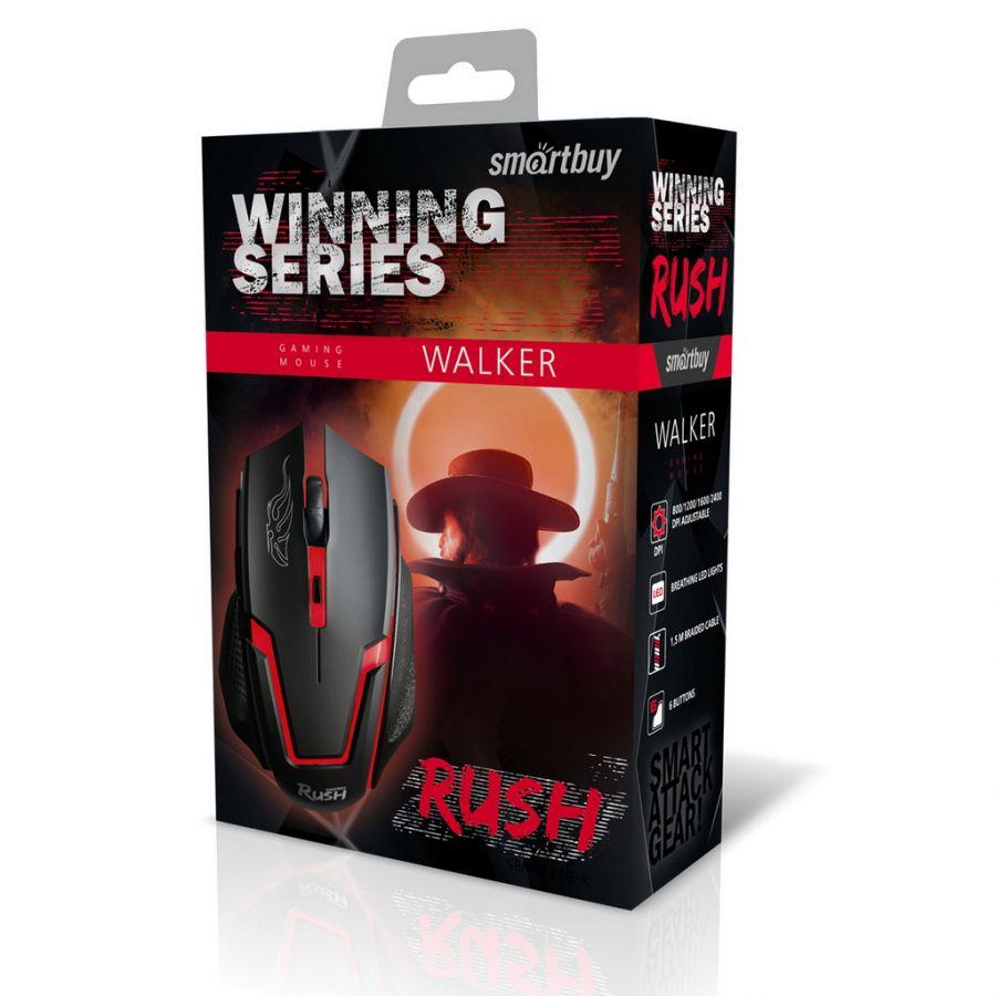 Мышь игровая проводная Smartbuy RUSH Walker черная