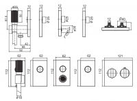 Смеситель для ванны/душа Fima - carlo frattini Switch F5949