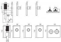 Смеситель для ванны/душа Fima - carlo frattini Switch F5948