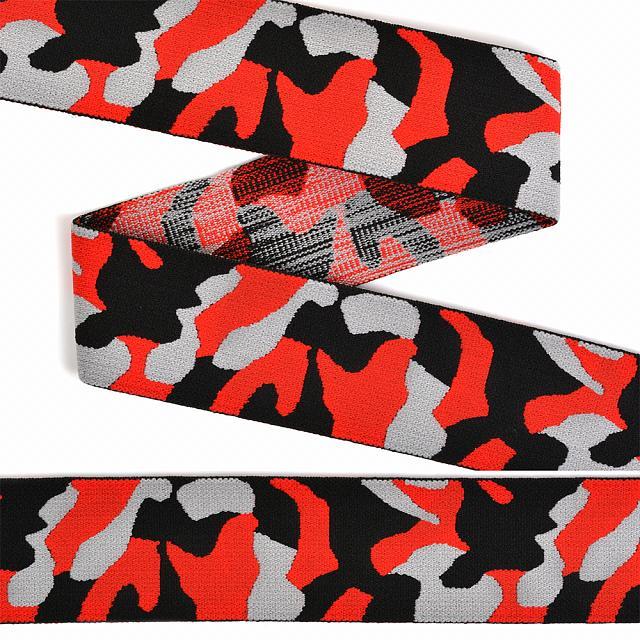 резинка декоративная красный камуфляж 40мм