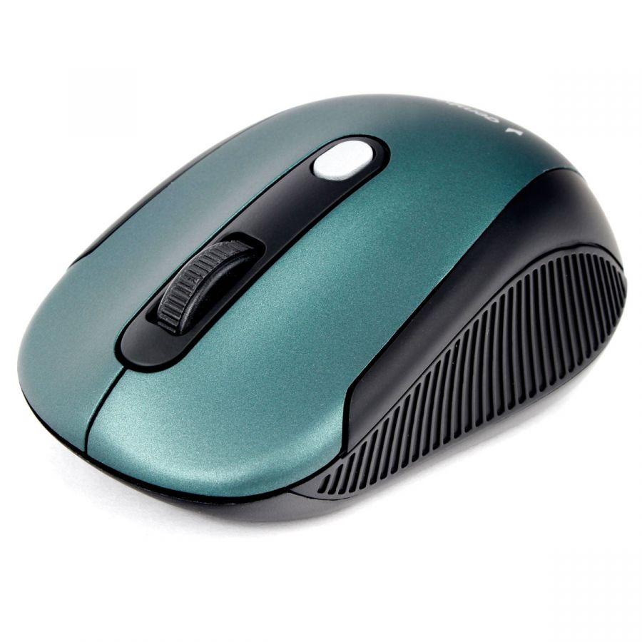 Беспроводная мышь Gembird MUSW-420-2 (2.4ГГц, зеленый, 4кн, 1600DPI, блистер)