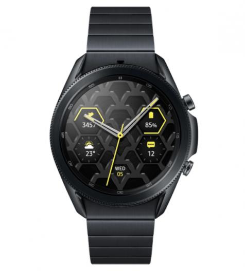 Часы смарт Samsung Galaxy Watch 3 Stainless, 45mm, титан