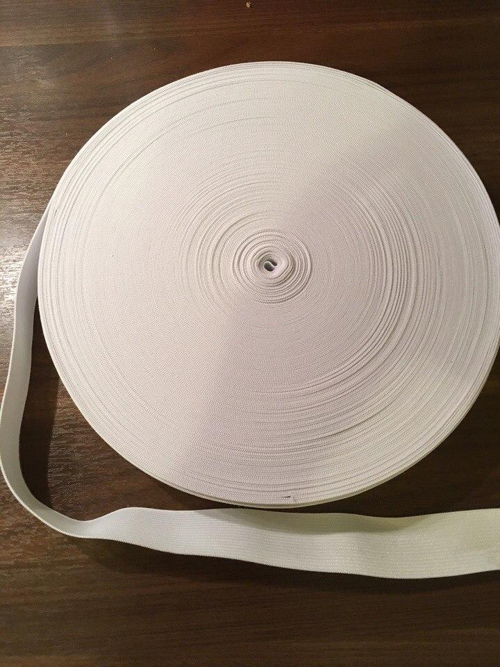 резинка вязанная белая 35мм
