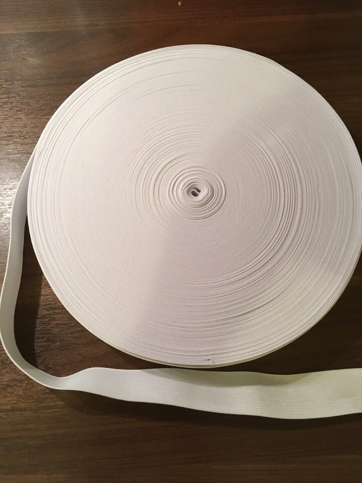 резинка вязанная белая 40мм