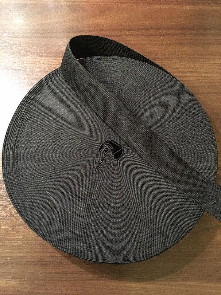 резинка вязанная черная 35мм