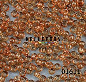 Бисер чешский 01611 коричневый прозрачный блестящий Preciosa 1 сорт