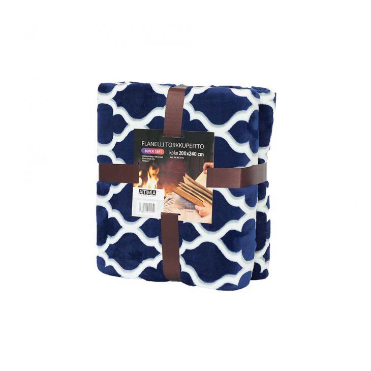 Плед SHERPA Blanket 200*240 см blue/white
