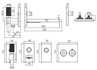 Смеситель для ванны/душа Fima - carlo frattini Switch F5947