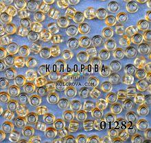 Бисер чешский 01282 светло-янтарный прозрачный блестящий Preciosa 1 сорт