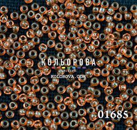 Бисер чешский 01685 тёмно-оранжевый прозрачный блестящий Preciosa 1 сорт
