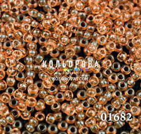 Бисер чешский 01682 оранжевый прозрачный блестящий Preciosa 1 сорт