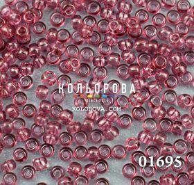 Бисер чешский 01695 сливовый прозрачный блестящий Preciosa 1 сорт