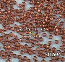 Бисер чешский 01694 коричневый прозрачный блестящий Preciosa 1 сорт