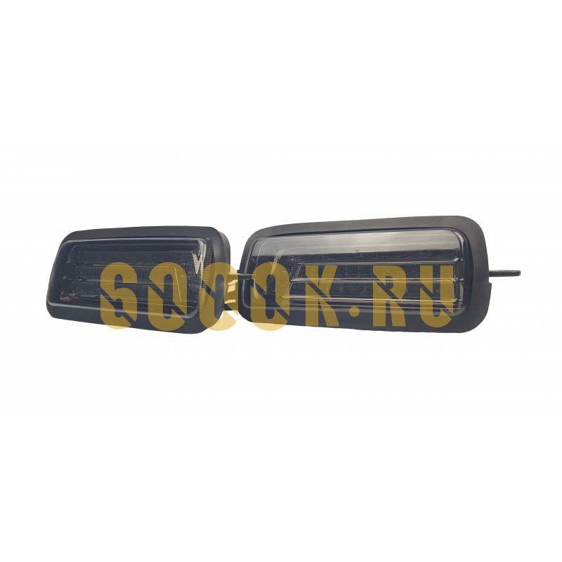 Светодиодные надфарники на Ниву черные (комплект)