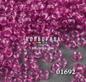 Бисер чешский 01692 розовый прозрачный блестящий Preciosa 1 сорт