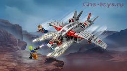 Конструктор LEPIN Super Escort Капитан Марвел и атака скруллов 07117A (Аналог LEGO Super Heroes 76127) 344 дет