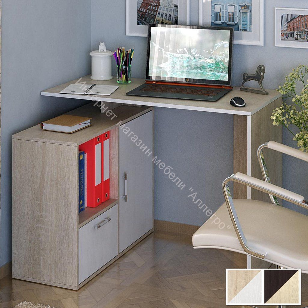 Стол компьютерный Слим 3 прямой/угловой