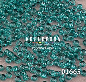 Бисер чешский 01665 бирюзовый прозрачный блестящий Preciosa 1 сорт