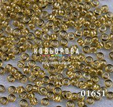 Бисер чешский 01651 горчичный прозрачный блестящий Preciosa 1 сорт