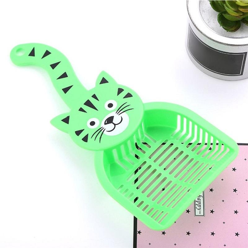 Совок для уборки кошачьего туалета (лотка), Зелёный