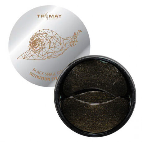 Питательные гидрогелевые патчи с муцином чёрной улитки TRIMAY Black Snail Gold Nutrition Eye Patch, 90 шт
