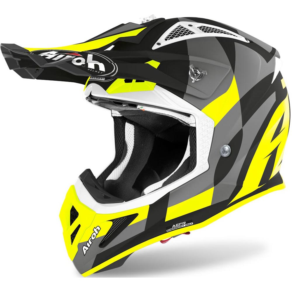 Airoh Aviator Ace Trick Yellow Matt шлем для мотокросса и эндуро