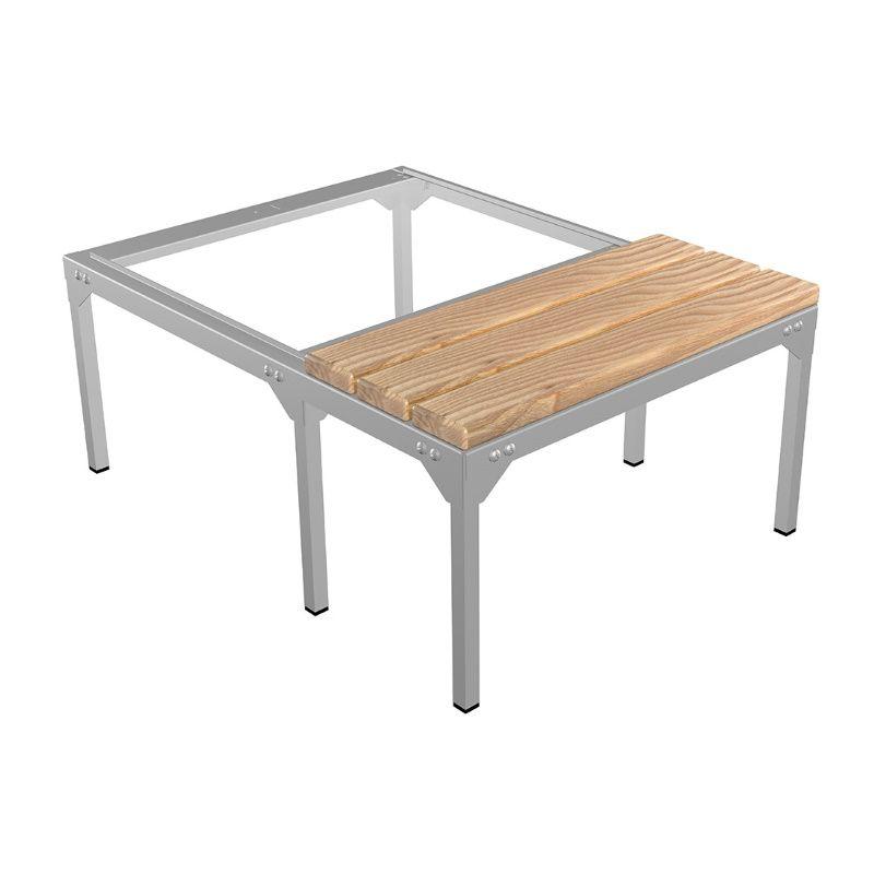 Скамья-подставка под шкаф для одежды «LS-21» сосна