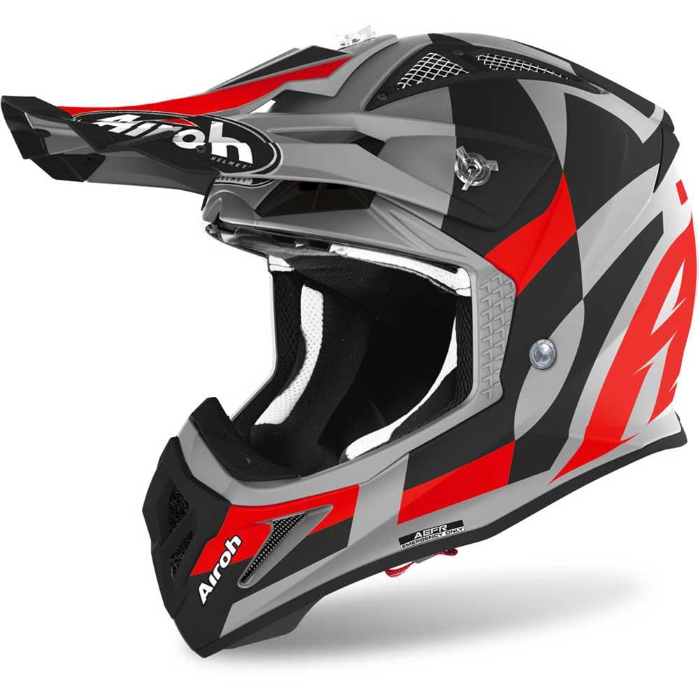 Airoh Aviator Ace Trick Red Matt шлем для мотокросса и эндуро