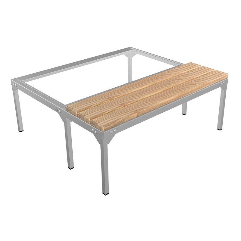 Скамья-подставка под шкаф для одежды «LS-31» сосна