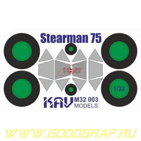 Окрасочная маска на Stearman 75 Kaydet (ICM 32050)