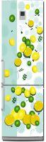 Наклейка на холодильник -  Лимон и лайм | купить в магазине Интерьерные наклейки