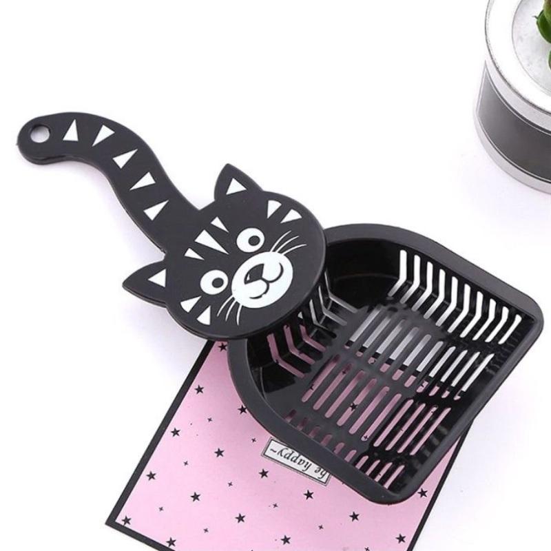Совок для уборки кошачьего туалета (лотка), Чёрный
