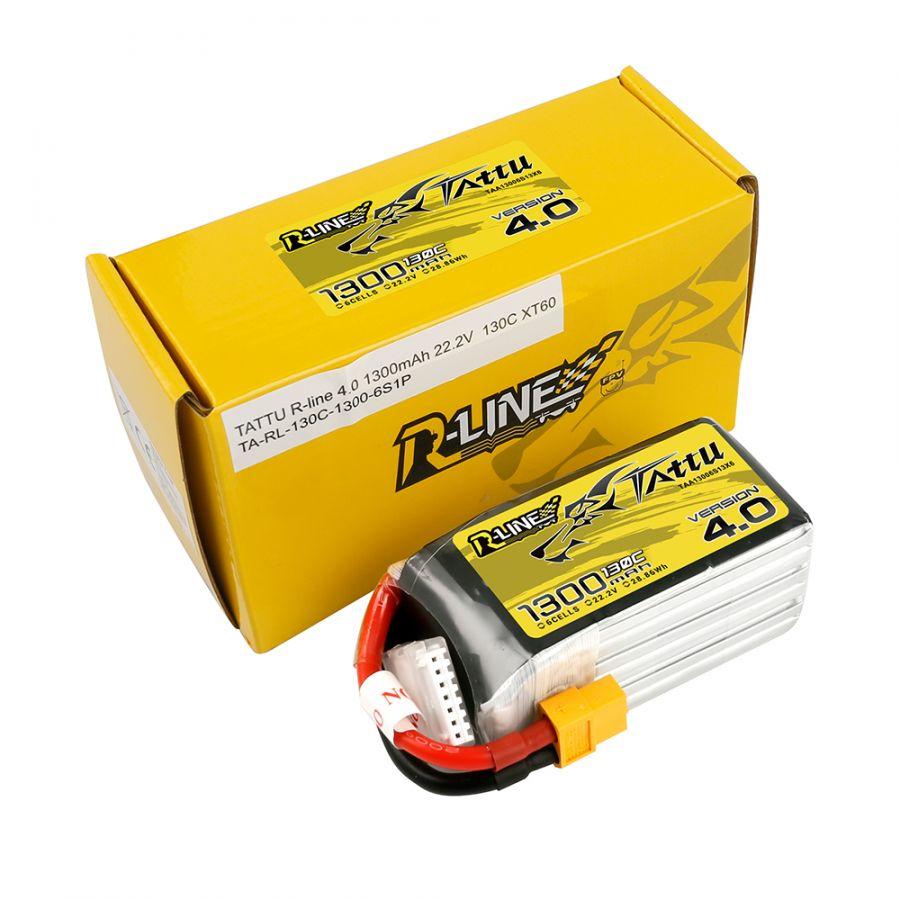 LiPo аккумулятор Tattu R-line 6S 1300 mAh 130C 22.2В
