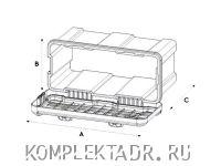 Схематично - Ящик для инструментов DAKEN 82203