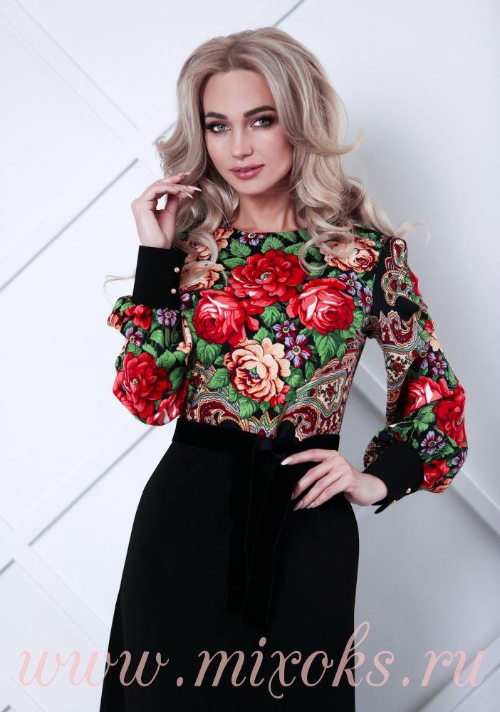 Платье вечернее с цветами