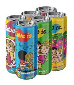 Газированный напиток Love Is - набор 6 вкусов, 330 мл