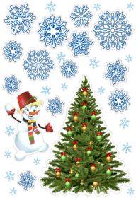 Плакат новогодний, 2 вида в ассортименте