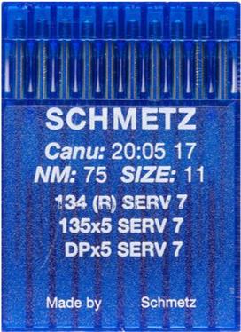 Иглы Schmetz DPx5 SES SERV7 №75 10шт