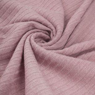 Трикотаж-резинка  - Пыльная роза 50х37
