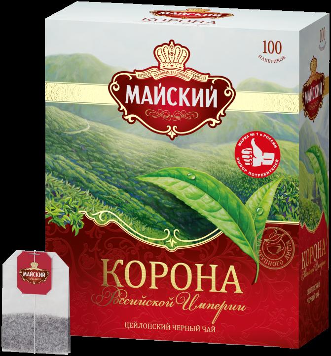 Чай Майский Корона российской империи 100пак*2г