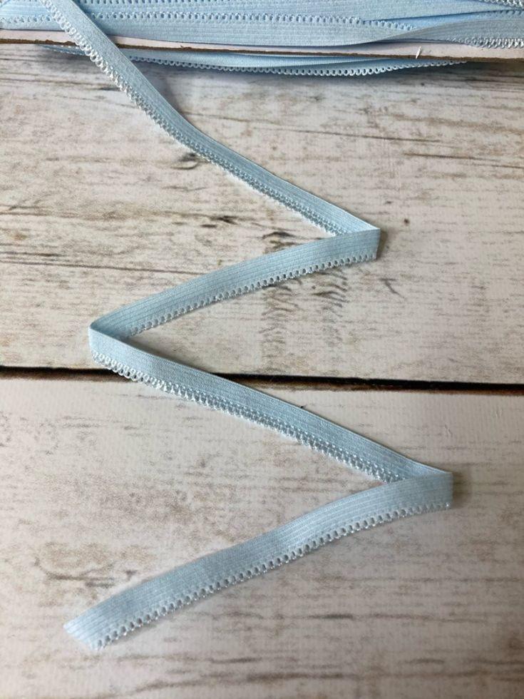 ажурная резинка 10 мм голубая