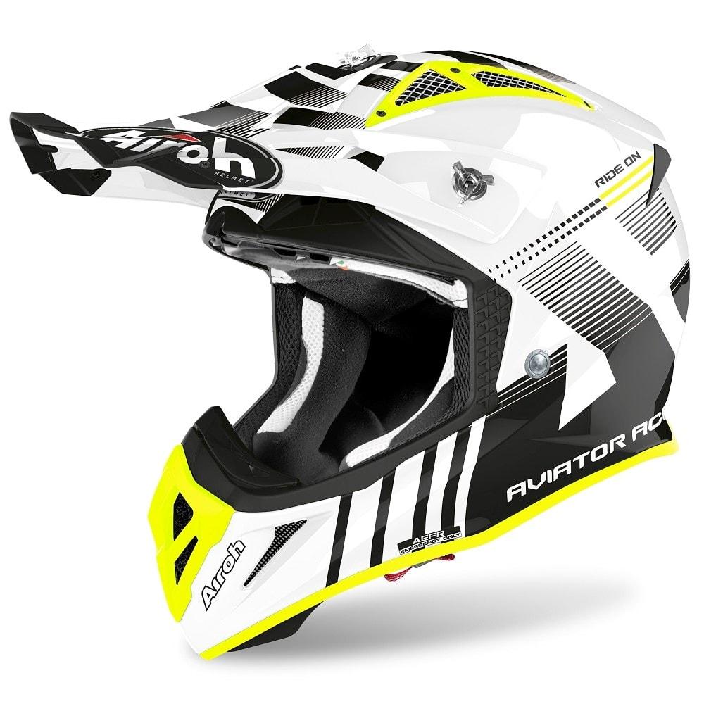 Airoh Aviator Ace Nemesi White Gloss шлем для мотокросса и эндуро