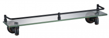 Полка прямая стеклянная 60 см Savol S-606691H черная