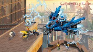 Конструктор Lepin Ninja Самолет-молния Джея 06050 (Аналог Lego Ninjago 70614) 937 дет