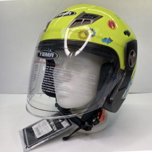 Шлем открытый YM-622 Yamapa (с антикрылом) (M, Светло- зеленый)