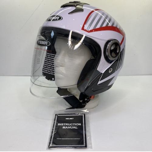"""Шлем открытый YM-623 """"YAMAPA (внутри солнцезащитн очки) (L, Белый)"""