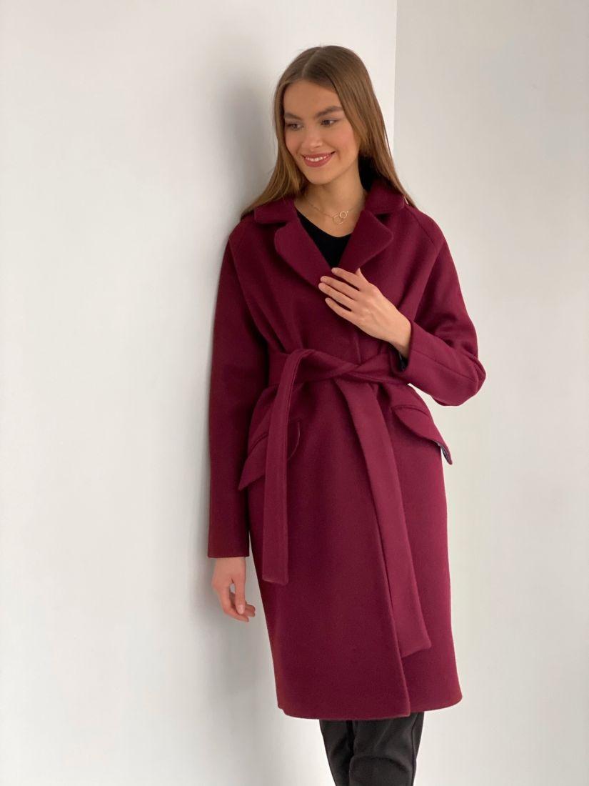 s2830 Пальто new cocoon в цвете burgundy