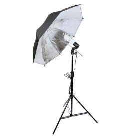 Студийный источник света на 1 цоколь с зонтиком + стойка