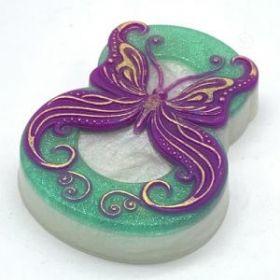 Форма для мыла 8 Марта / Бабочка в завитушка, арт. 1926